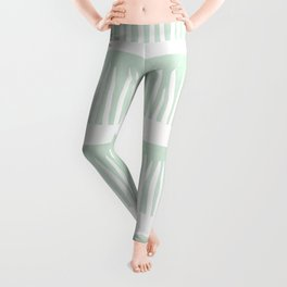 Abstract Blades of Grass in Mint Leggings