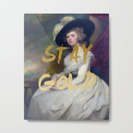STAY GOLD Poster Print Metal Print
