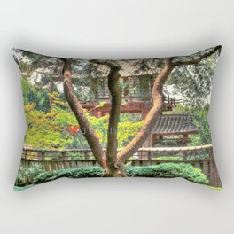Pagoda in Japanese Gardens Rectangular Pillow