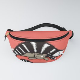 Cat Mother Protects Her Kitty Child Fanny Pack