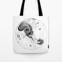 apollonia Tote Bags featuring asc 438 - L'attachement pathologique (The stalking) by From Apollonia with Love