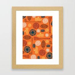 Sports Pattern Framed Art Print