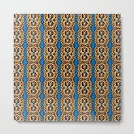 Beautiful Striped Beadwork Print Metal Print