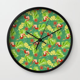 Tropical Shrimp Cocktail Wall Clock