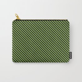 Greenery and Black Stripe Carry-All Pouch