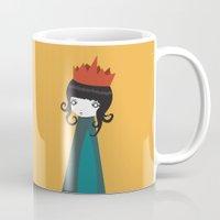 queen Mugs featuring Queen by Volkan Dalyan