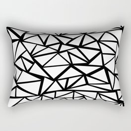 Mozaic Triangle White Rectangular Pillow