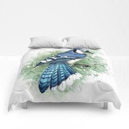 Blue Jay In Watercolor Comforters