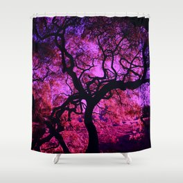 Under the Tree in Pink and Purple Shower Curtain