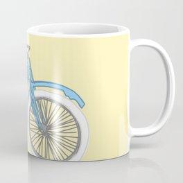 Blue Antique Motorcycle Coffee Mug
