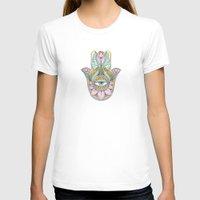 hamsa T-shirts featuring Hamsa  by Natasha Zen