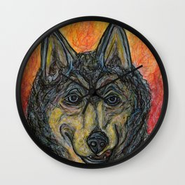 The Wolf's Dilemma Wall Clock