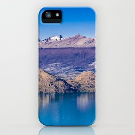 Lake and Mountains Landscape, Patagonia, Chile iPhone Case