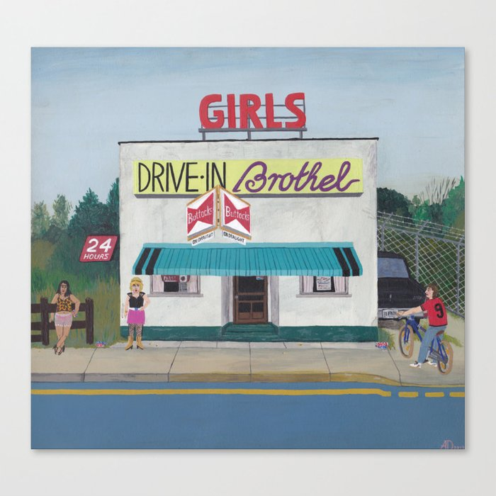 24 h Drive-in Brothel Canvas Print