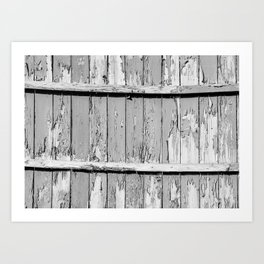 Gray Paint Chipped Fence Art Print