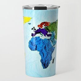Map of the World in Color by Jeanpaul Ferro Travel Mug