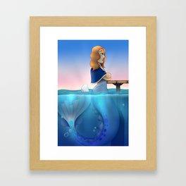 Silver Mermaid Framed Art Print