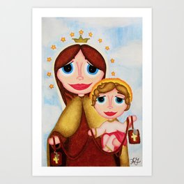 Our Lady of Mount Carmel Art Print