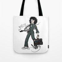 ripley Tote Bags featuring Ripley  by shugmonkey