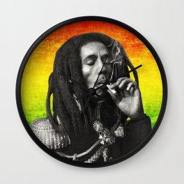 marley bob general portrait painting   Up In Smoke Fan Art Wall Clock
