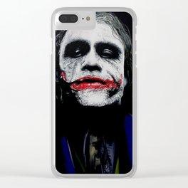 "The Joker ""Heath Ledger"" Clear iPhone Case"