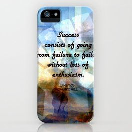 Winston Churchill Motivational SUCCESS QUOTE iPhone Case