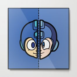 Old & New MegaMan Metal Print