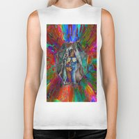 hippy Biker Tanks featuring Hippy Girl by AuntyReni's Creations