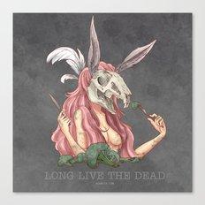 Long live the dead - Rabbit Canvas Print