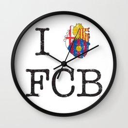 I heart FCB Wall Clock