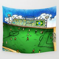 brasil Wall Tapestries featuring Brasil by Henrique Abreu