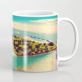 Ala Moana Beach Park, Magic Island, and Diamond Head  Coffee Mug