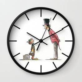 The Circus: Clown and Ringmaster Wall Clock