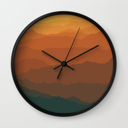 Ombré Range No. 3 Wall Clock