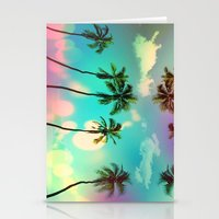 palm trees Stationery Cards featuring Palm trees  by mark ashkenazi