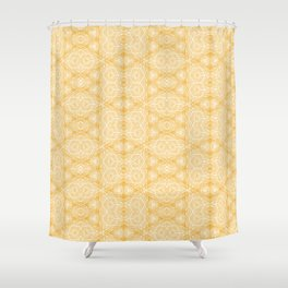 Imperfection: Three (Golden Triangles) Shower Curtain
