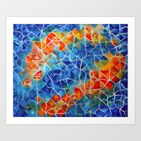 Fishes And Ripples Art Print