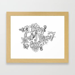 Classy But I Swear A Little Adult Coloring Design, Funny Coloring Design Framed Art Print