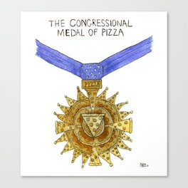 The Congressional Medal of Pizza Canvas Print