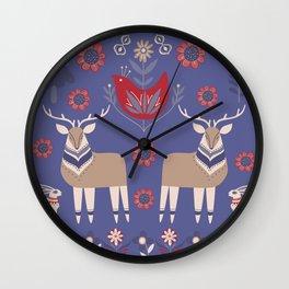 Scandinavian Winter Pattern #society6 #buyart Wall Clock