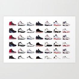 Air Jordan Series Collection 1-14 Art Print