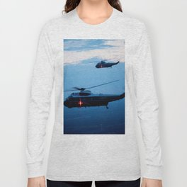Support Helicopters Fly at Dusk Long Sleeve T-shirt