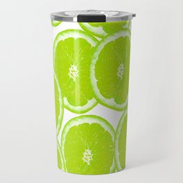 Summer Citrus Lime Slices Travel Mug