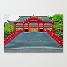 Red Temple Canvas Print
