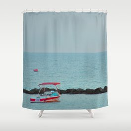 Between Sea and Sky Shower Curtain