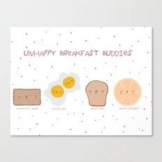 Unhappy Breakfast Buddies Canvas Print