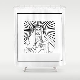 The Ecstasy of Madonna Shower Curtain