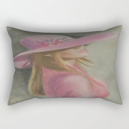 Lady in the hat Rectangular Pillow