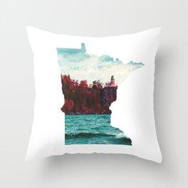 Minnesota-Split Rock Lighthouse at Lake Superior Throw Pillow