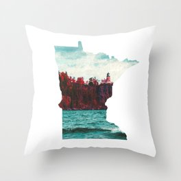 Minnesota-Split Rock Lighthouse at Lake Superior Throw Pillow